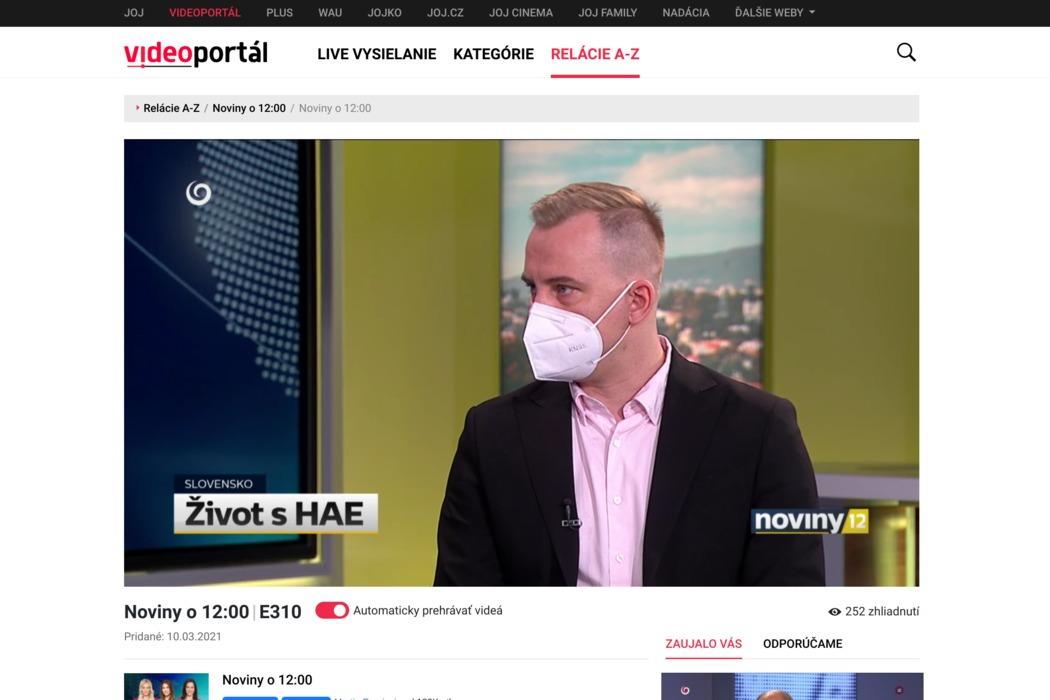 ŽIVOT S HAE (Reportáž) - obrázok